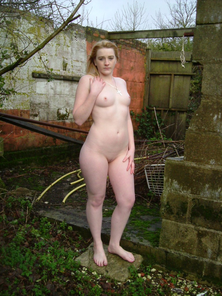 Nude women outdoor showers