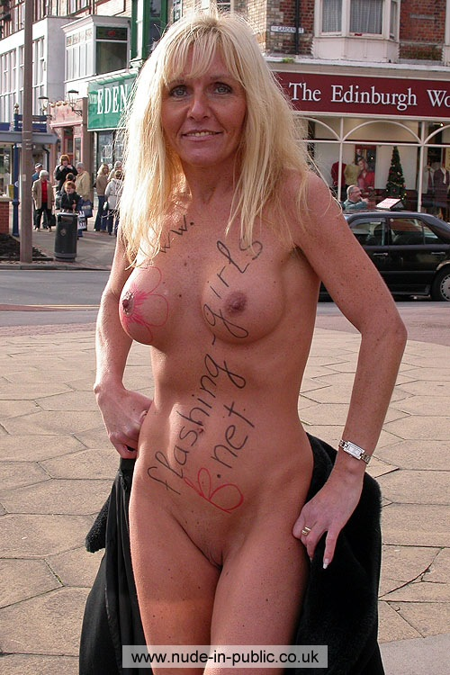 Mature women naked in public