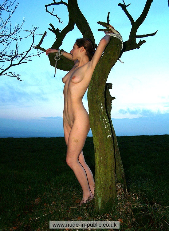 Nude In Public Co Uk Gina Lorenz Tied Tree